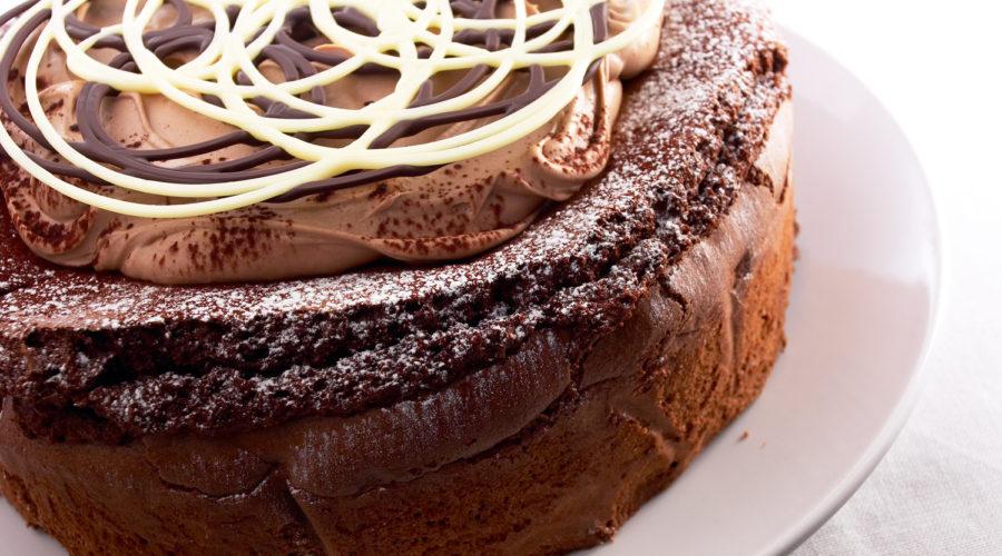 Chocolate creme fraiche cake