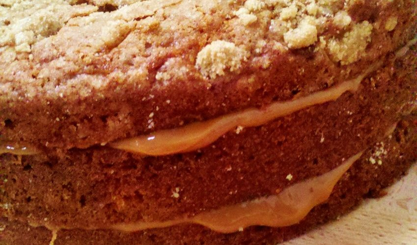 Toffee Banana and Pecan Cake