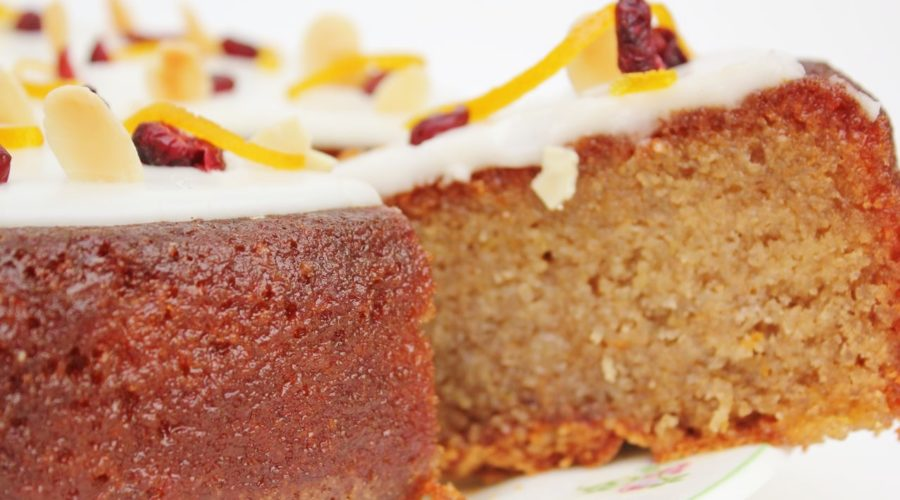 Tunisian Orange and Cranberry cake